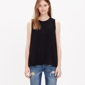 Madewell Refined Tank Top Hi-Lo Black XS